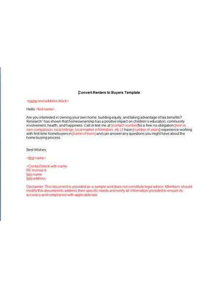 11  Real Estate Marketing Letter Examples  U0026 Templates