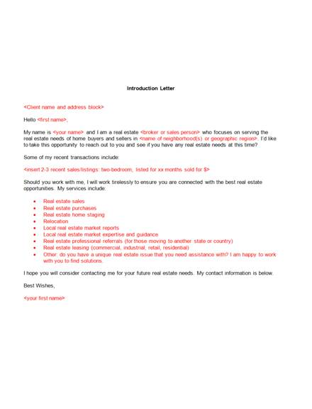 4 real estate broker announcement letter