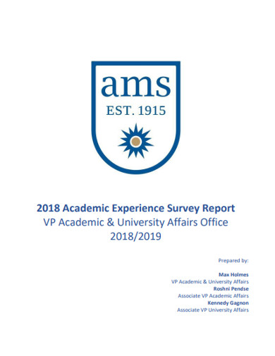 academic experience survey report