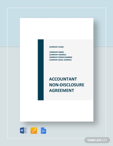 accountant non disclosure agreement