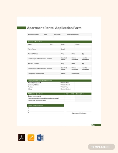 Free 11 Best Rental Application Form Examples Templates