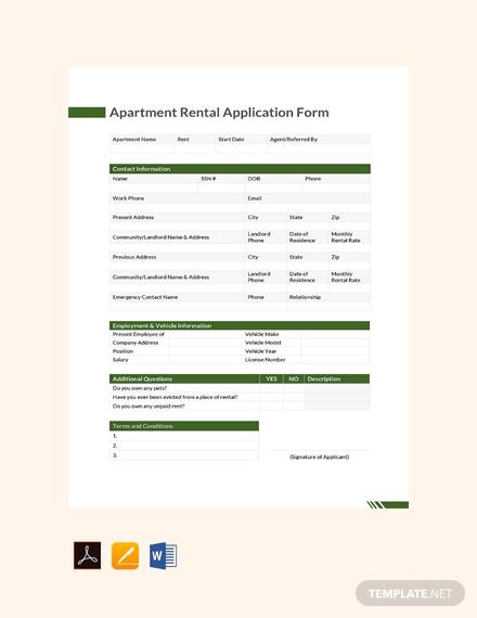 apartment rental application form1