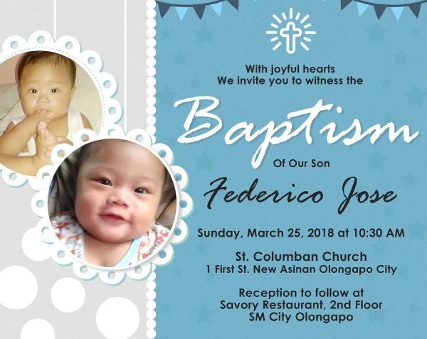 baptism banner invitation
