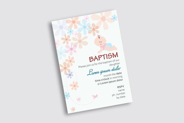 baptism rsvp card