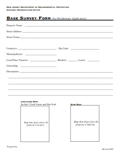 base survey form