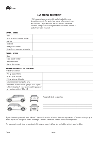 basic car rental agreement1