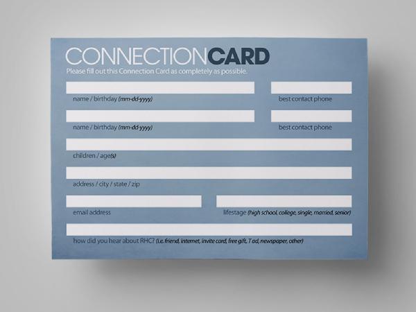 basic church connection card