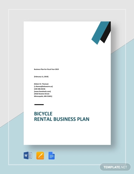 bicycle rental business plan