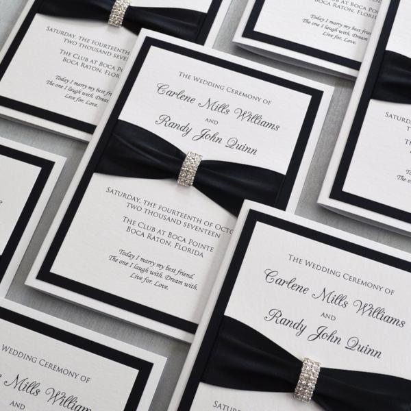 black and white church wedding program