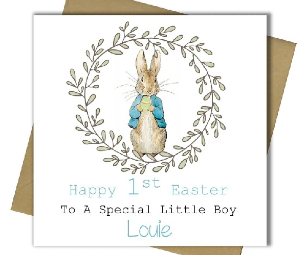 boy first easter card