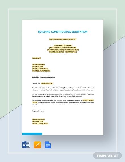building construction quotation template2