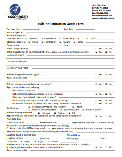 building renovation quote form1
