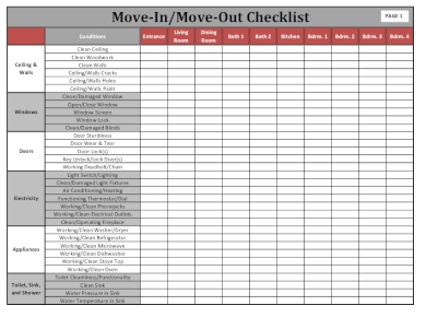 campus move in and move out checklist