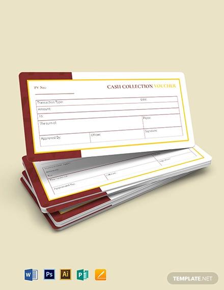 cash collection voucher template