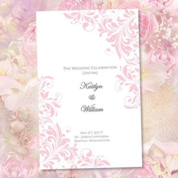 catholic church wedding program