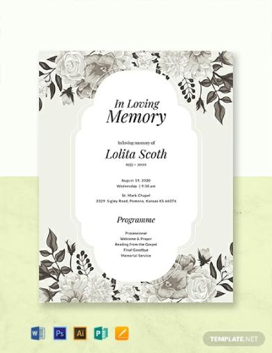 chapel memorial program