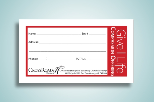 christmas compassion church envelope