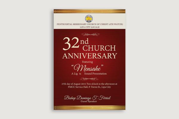 church anniversary banner
