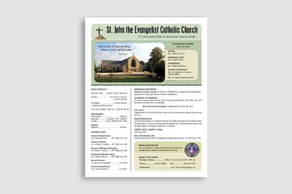 church announcement bulletin