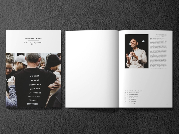 church annual report magazine