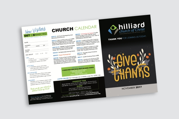 Church Calendar Design.6 Church Bulletin Examples Templates Download Now Examples
