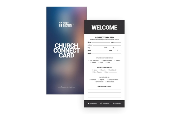 church connection card for visitors