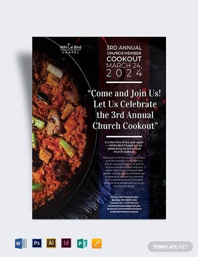 church cookout flyer