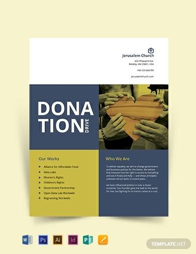 church donation flyer