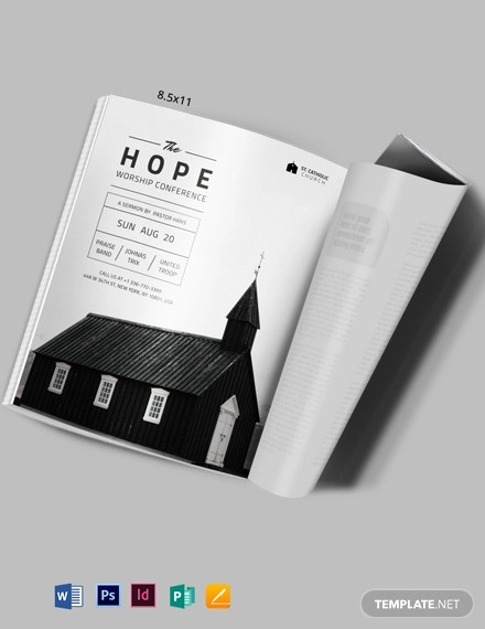church event magazine ads template