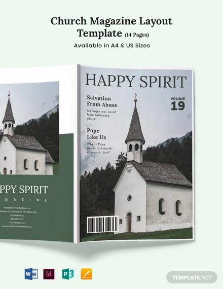 church magazine layout template
