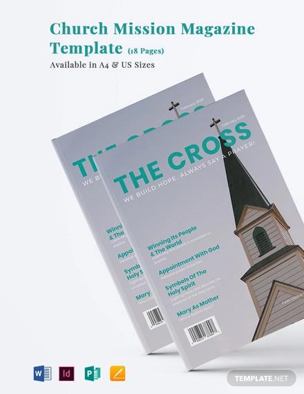 church mission magazine template
