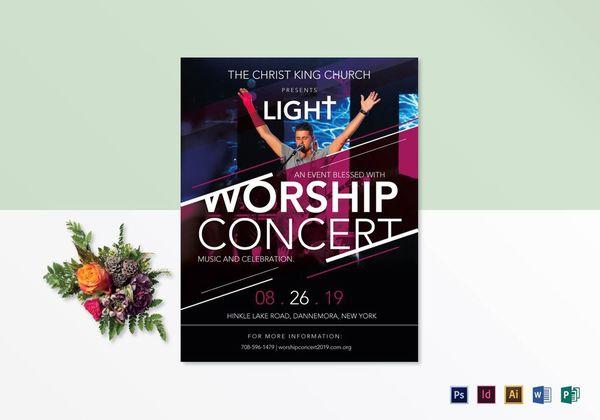 church worship concert flyer