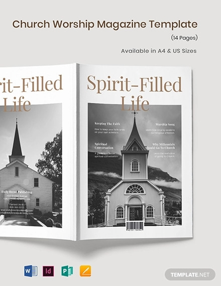 church worship magazine template