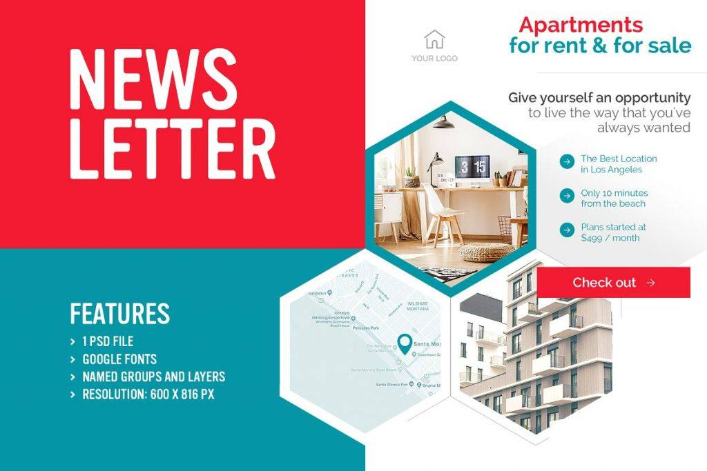 clean real estate newsletter template 1024x683