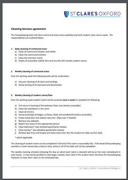cleaning company service agreement