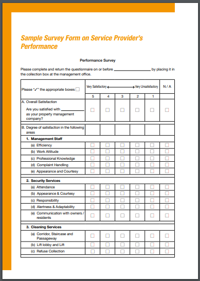 cleaning services survey on providers performance