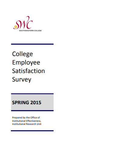 college employee satisfaction survey