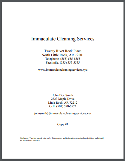 commercial cleaning services business plan