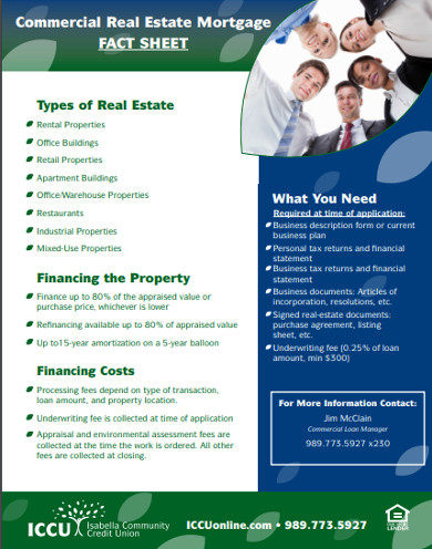 commercial real estate mortgage fact sheet