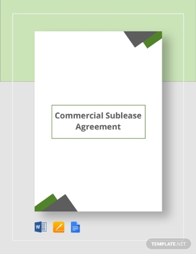 commercial rental sublease agreement