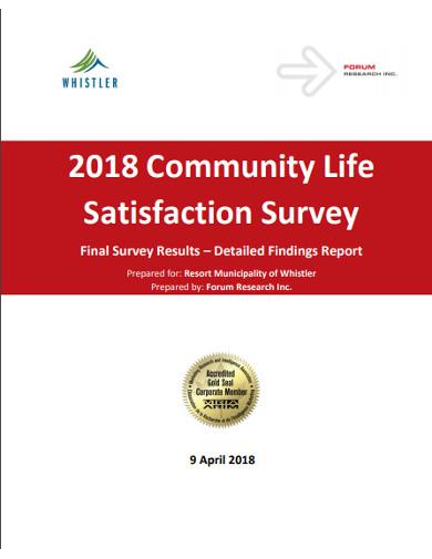 community life satisfaction survey