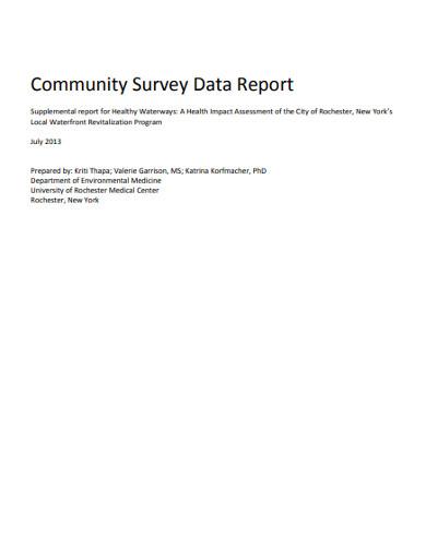 community survey data report