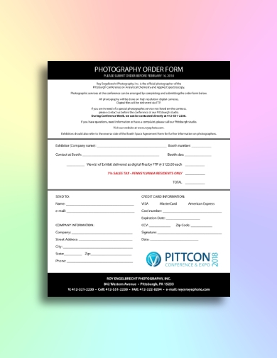 conference and expo photography order form
