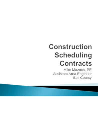 construction scheduling contracts