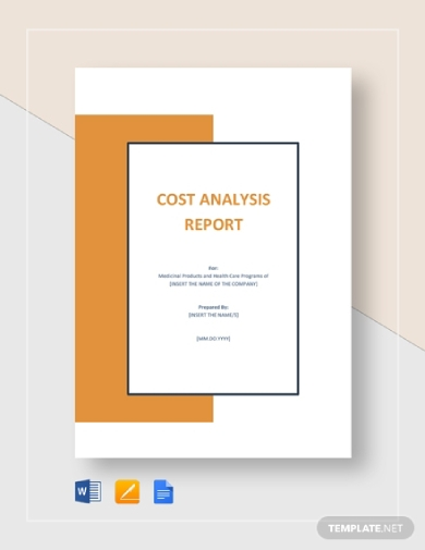 cost analysis report