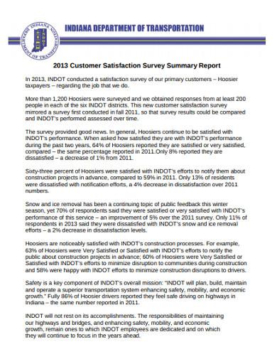 customer satisfaction survey summary report2