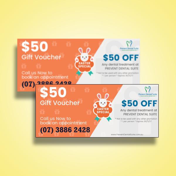 dental treatment easter gift voucher