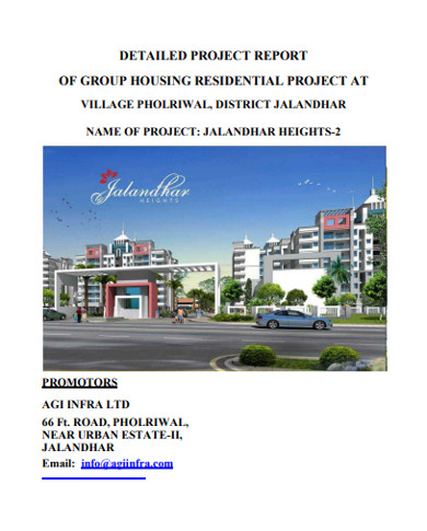 detailed real estate project report