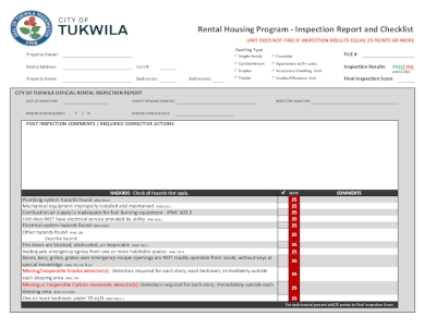 detailed rental inspection checklist