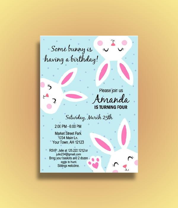 easter birthday invitation
